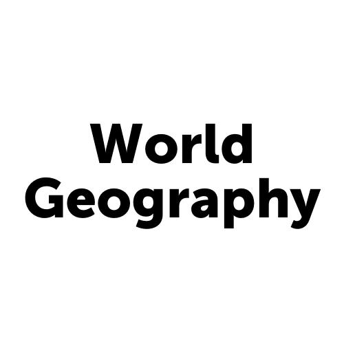 HIS5001JCJAX - World Geography - Job Corps Jacksonville